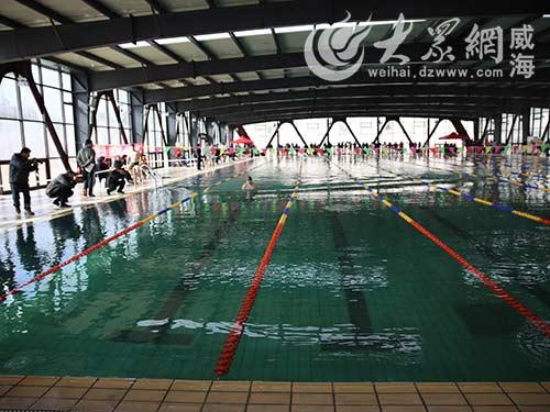 汤泊水立方温泉游泳馆开业 规模威海最大