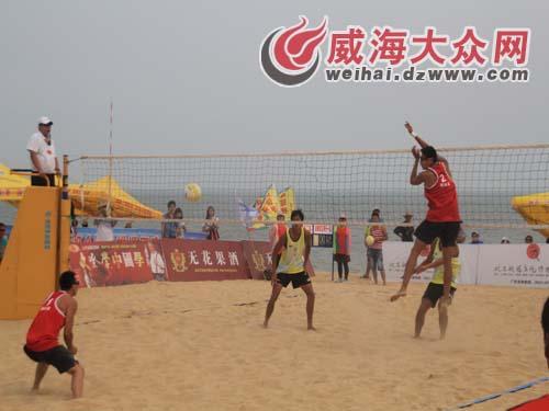 沙滩排球巡回赛男子组冠军赛比赛中-全国沙滩排球巡回赛决赛男女组