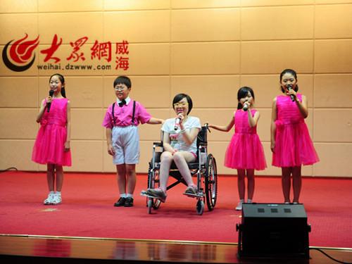 演唱七子之歌-澳门社工代表团来威参访长城爱心大本营