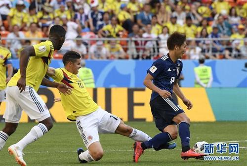 世界杯:日本队胜哥伦比亚队